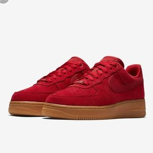 Suede Red Air Force 1